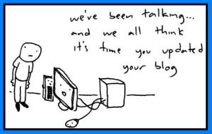 update your blog cartoon